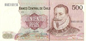 Chili  Chile  500 pesos 1996 UNC  (Pick 153e)