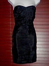 bebe STRAPLESS PLEATED SILK DRESS SIZE S  100% SILK,  CLASSY & SEXY,  LIKENEW