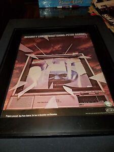 Peter Gabriel Security Rare Original Promo Poster Ad Framed!