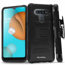 LG K51 Rugged Phone Case with Screen Protector and Belt Clip Holster - Evocel