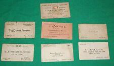 OLD SALESMAN BUSINESS CALLING CARD EPHEMERA KANSAS CITY PERFUME AUTO LIVERY TAXI