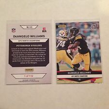 513. DeAngelo Williams Steelers 2016 Panini Instant playoffs AFC North Champs