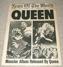 GOOD! 1977 QUEEN ~ NEWS Of The WORLD Extra, MONSTER Album Released NEWS Style AD