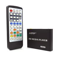 HD Media Player 1080P MKV AVI RMVB DivX HDMI Supports Up to 2TB Ext Hard Drive