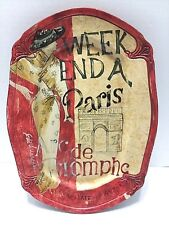 Platter Tam San Designs Hand Painted Serving Tray Paris Weekend