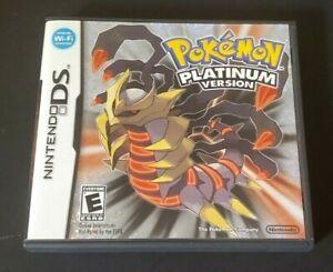 Authentic Nintendo DS Game Complete ~ Dsi Dsl 3DS ~ POKEMON PLATINUM EDITION