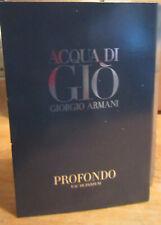 Giorgio Armani Acqua di Gio  PROFONDO .04oz Trial Spray Vial NEW