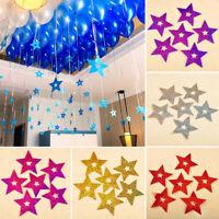HK- KF_ 100Pcs Fashion Bling Shiny Stars Pendant Wedding Balloon Decor Supplies