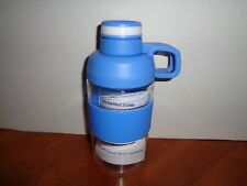 Nearly Indestructible Tritan 17oz Water Bottle Leak Proof Latch Lid Handle Blue