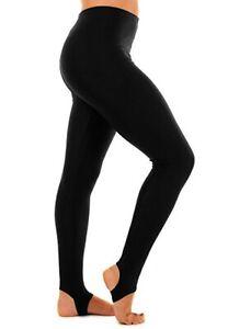 Girls Stirrup Black Leggings School Dance Show Gymnastic Kids Nylon Pants Access