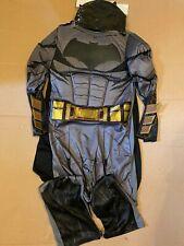 Childs Kids Black Batman Fancy Dress Superhero Costume Age 5-6 , 7-8 , 9-10