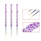 3 PCS Nail Art Pen Dotting Painting Drawing UV Gel Liner Polish Brush Tool Set
