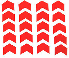 """Reflective Red Chevrons Vinyl Stickers 2"""" wide."""