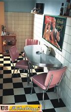 WO-24 Set US Diner Table 3 Chairs Bel Air Retro Look Furniture Reproduction
