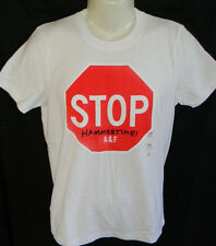 MENS ABERCROMBIE & FITCH WHITE MUSCLE T-SHIRT SIZE M