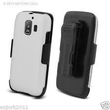 Huawei Fusion 2 AT&T U8665 Hard Case+Holster Combo w/ Swivel Belt Clip White