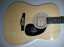 VAN ZANDT Signed Autograph Acoustic Guitar Lyrics Get Right With the Man SKYNYRD