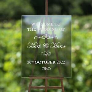 Custom Wedding Welcome Sign Sticker Mirror Frame Graphic Decor Vinyl Decal