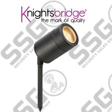 Knightsbridge 230V IP65 GU10 Spike Light Black Outdoor Aluminium Garden Driveway
