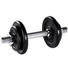 Mancuerna con pesas 10kg halteras de fitnes acero hierro musculación gimnasio