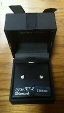 1/10ct. T.W. Diamond Earrings Sterling Silver Miracle Studs from Kohls