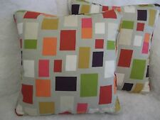 """BLOCKS BY SCION 1 PAIR OF 18"""" CUSHION COVERS - PIPED AND DOUBLE SIDED"""