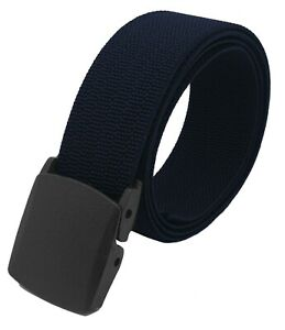 Men's Nylon Military Belt with Plastic Cam Buckle or Tactical Heavy Duty Elastic