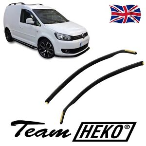 SET OF FRONT HEKO TINTED WIND DEFLECTORS for VW CADDY Mk3 2003 - 2020 2pc
