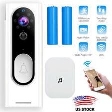 Wireless Doorbell WiFi Video Smart Talk Door Ring Security Hd Camera Bell New