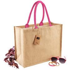 8b049bdac33 Westford Mill Classic Jute Shopper Ladies Natural Eco Tote Handbag Bag for  Life