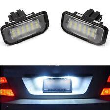 For Mercedes W203 4D Sedan C320 C350 Error Free White 18 LED License Plate Light