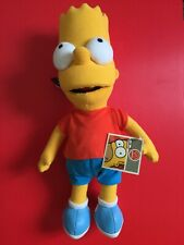 """APPLAUSE BART SIMPSON PLUSH TOY  13.5"""" BRAND NEW RARE THE SIMPSONS"""
