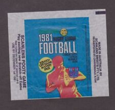 Scanlens Original 1981 Season NRL & Rugby League Trading Cards
