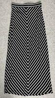 Womens(Sm) CHEVRON STRIPED MAXI SKIRT black white geometric pattern gypsy summer