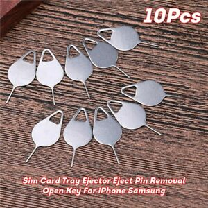 10 X Sim Card Tray Ejector Eject Pin Removal Open Key For iPhone Samsung Tools