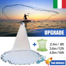 Rete Iacco Rezzaglio da Pesca Mare Fiume Casting Per Muggine 2,4/3,6/4,8m