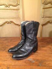 Vintage Justin Womens Flat Cowboy Western Riding Boots Black Size 7 B Enjoy!