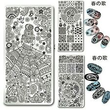 Nail art Stamping plate. Harunouta L019, 020 & 025. Born pretty original plate.