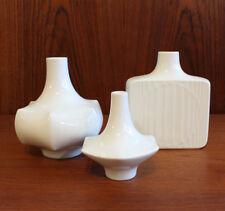 3x Fürstenberg porcelana jarrón op-art 70er años German porcelain vintage 1970´s