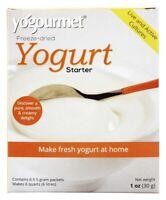 Yogourmet Freeze-Dried Yogurt Starter & Creme Bulgare Starter Set - 6 x 5g Pack
