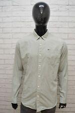 TOMMY HILFIGER Camicia Uomo Taglia XL Chemise Camicetta Homme Maglia Shirt Men's