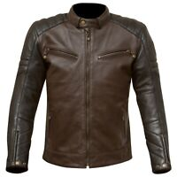 Merlin Chase Leather Motorcycle Jacket - BLACK / BROWN - ALL SIZES