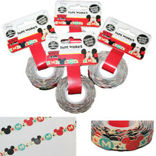 4 Rolls Die Cut Disney Mickey Minnie Mouse Ears Tape Works Scrapbooking Paper