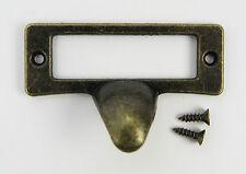 Maniglia per cassetto ottone etichetta ottone antico rustico