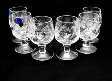 SET OF 6 x 1.7 oz. Neman Crystal Belarus Russian Shot Glass Vintage Glassware
