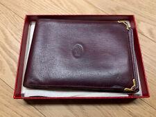 CARTIER portafoglio In Pelle Con Porta Assegni Vintage Originalisimo Con Scatola