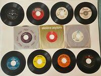 "Great Lot of (11) 45's Records Jukebox 7"" 45 RPM Vinyl Records Singles Random"
