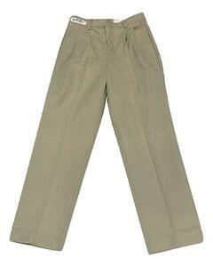 Khaki Mens Dura-Kap Industrial Work Pants NEW Red Kap Uniform Pants Pleated