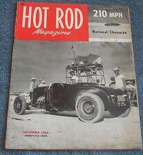 November 1950 Hot Rod Magazine Volume 3 Number 11 Alex Xydias So. Cal Speed