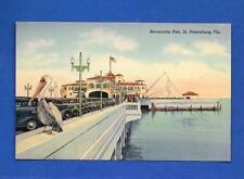 Vintage Linen Postcard St. Petersburg Florida Recreation Pier Unused